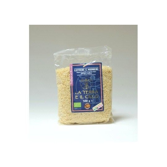 Organic Semolina Bronze-Extruded Numbers and Letters 500gr