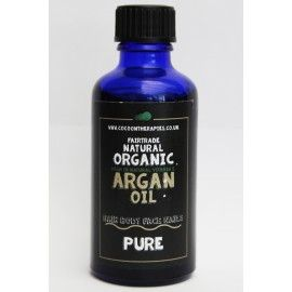 50ml Pure fair trade organic raw cold pressed cosmetic argan oil.