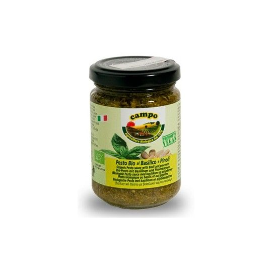Organic Vegetable Pesto with Basil and Pine Nuts 130gr