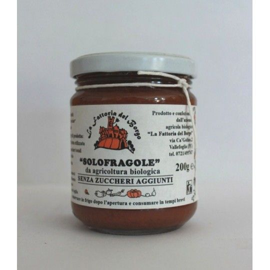 Organic Sugar Free Strawberry Jam 200 gr