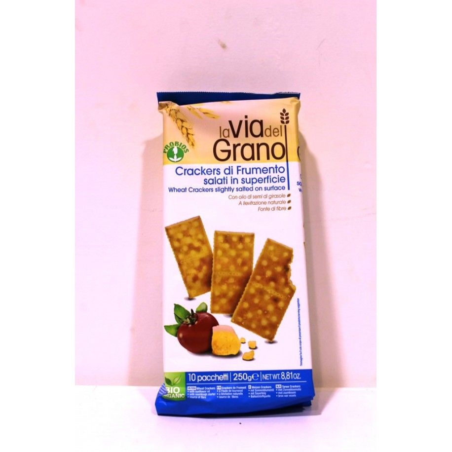 Crackers frumento salati in superf bio 250gr