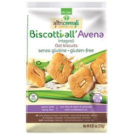 Biscotti integrali all'avena s/g 250gr