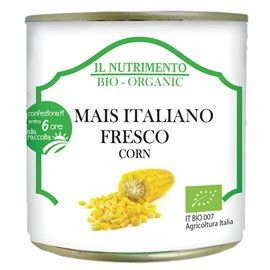 Mais italiano fresco bio in latta 340gr
