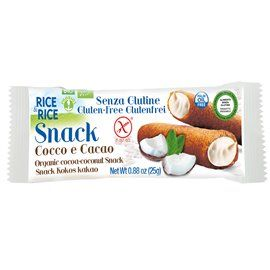 Snack cocco cacao rice&rice bio 25g