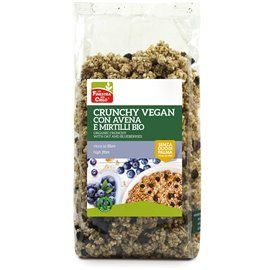 Crunchy avena mirtillo vegan bio 375gr