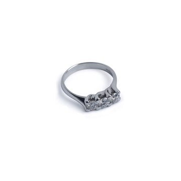 IMAN ANELLO Ethical Diamond tot.ct.0,42 in oro Ethical Gold Fairmined