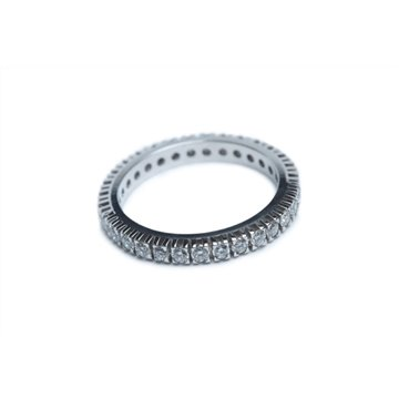 DUARA Anello 40 pietre ct. 0,40 in oro Ethical Gold Fairmined