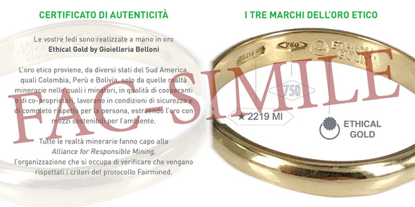 certificato ethical gold
